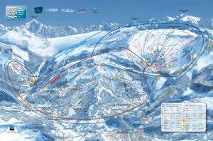 Grand Massif Ski Map